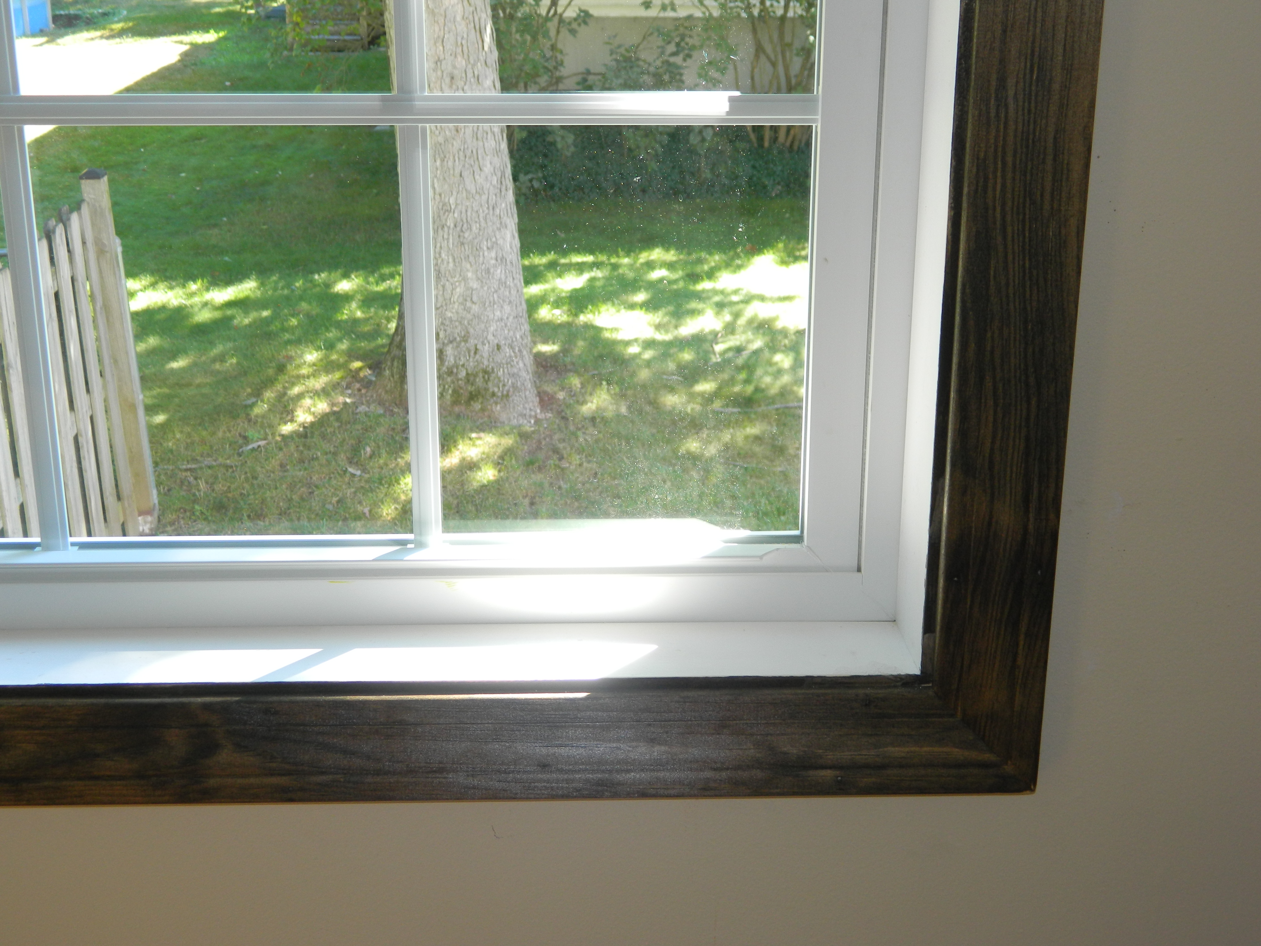 A stain i don t want to remove finding silver linings for Stained or painted trim